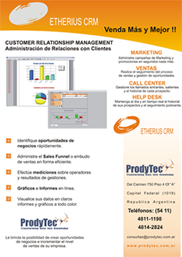 Folleto Etherius CRM